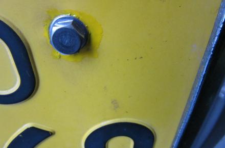 ナンバープレート 車検・点検時 ステンレスボルト交換サービス