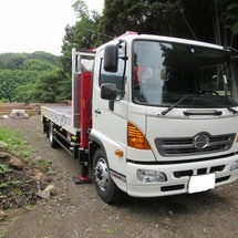 日野 木製平ボデー6段クレーン 大型トラック 新車販売