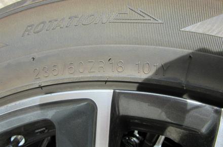 18インチ アルミホイール タイヤセット 中古販売